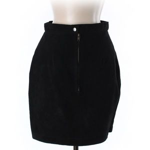 Vintage Mona Mode Suede Leather Skirt